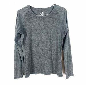Seg'Ments Wool Top Tee Baselayer Shirt Gray Medium